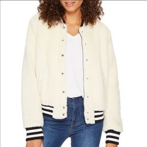 NWT Levi's Teddy Faux Fur Sherpa Bomber Jacket